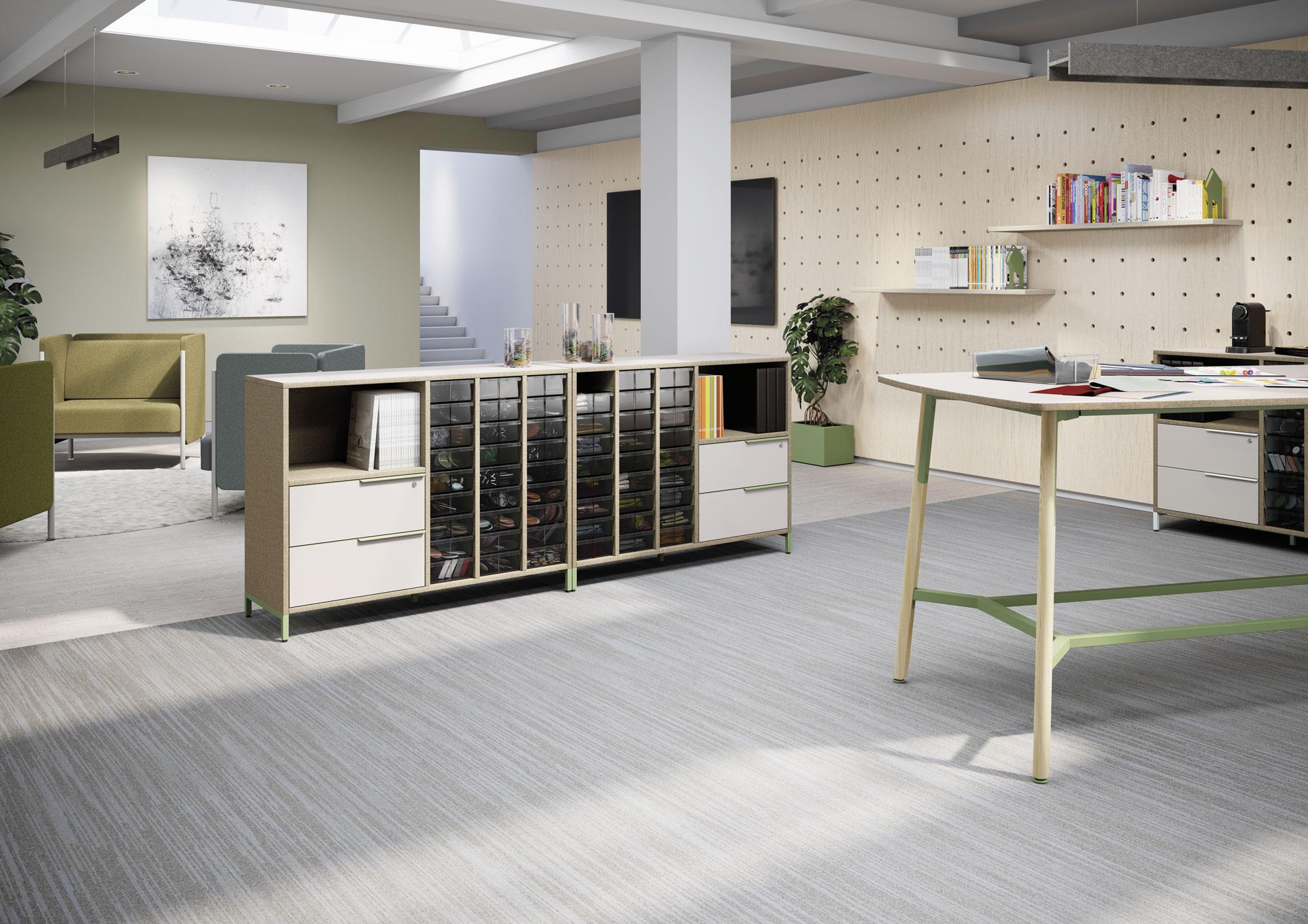 Matériauthèque meuble de rangement