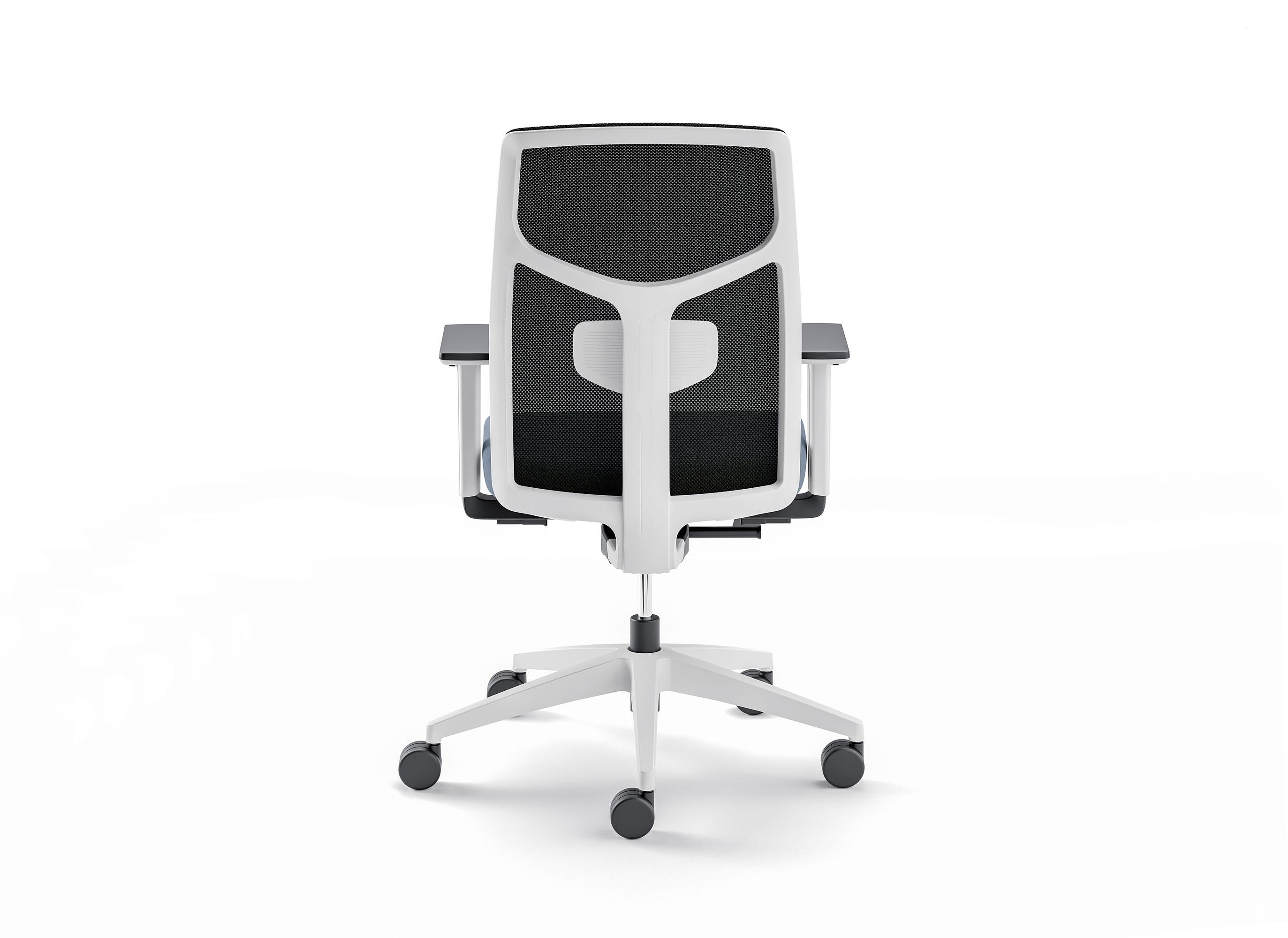 Un fauteuil de bureau de dos