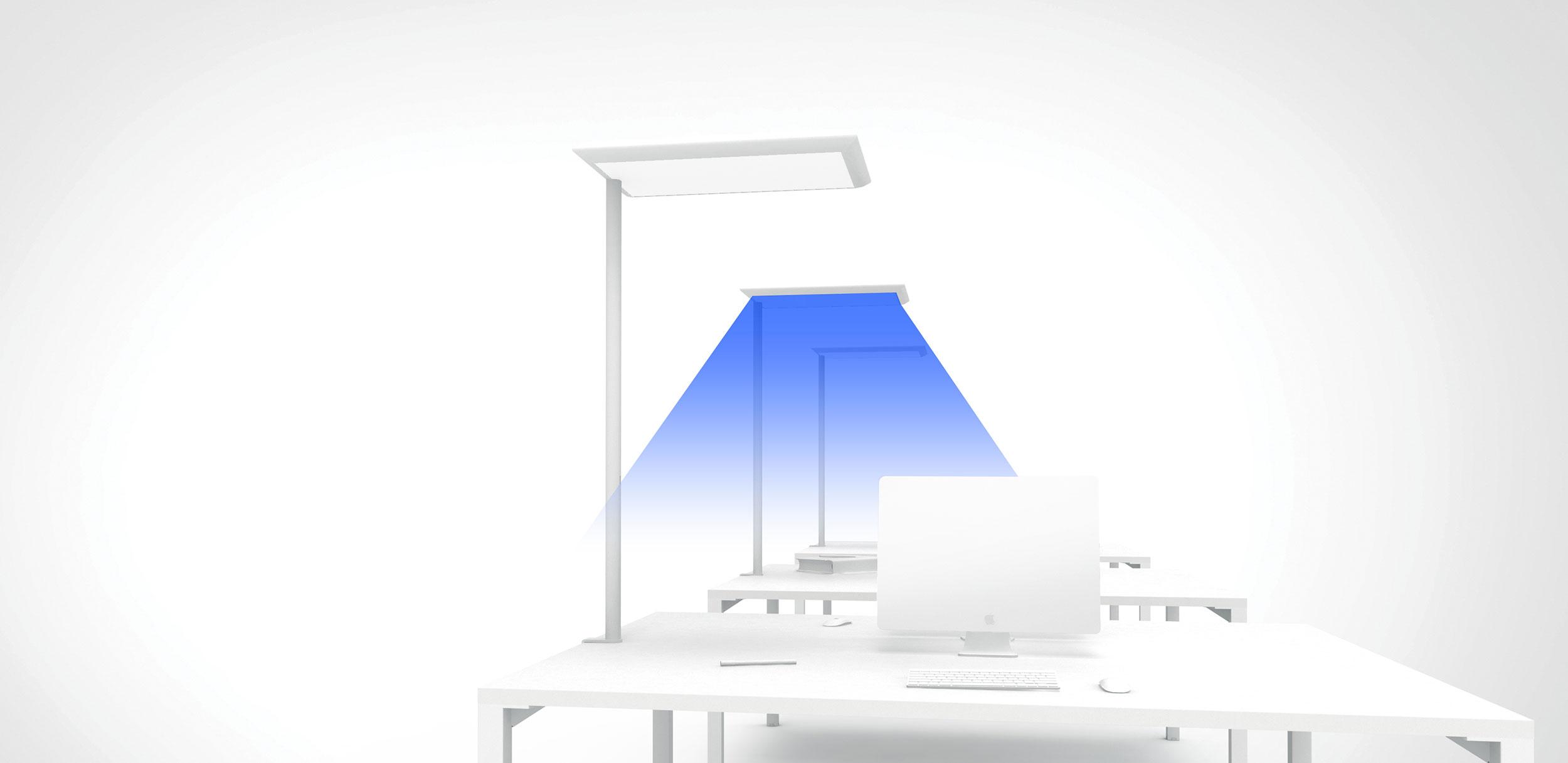Une modélisation 3D d'un éclairage